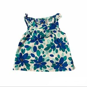 GYMBOREE Girls Floral All Over Print Top Sz 6-12M